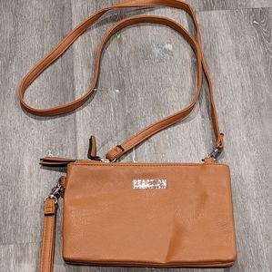 Kenneth Cole Rection brown leather crossbody/clutc